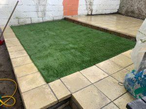 Artificial Grass back garden